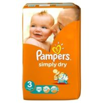 Pampers - Simply Dry Taille 3 4 a 9Kg 45 couches
