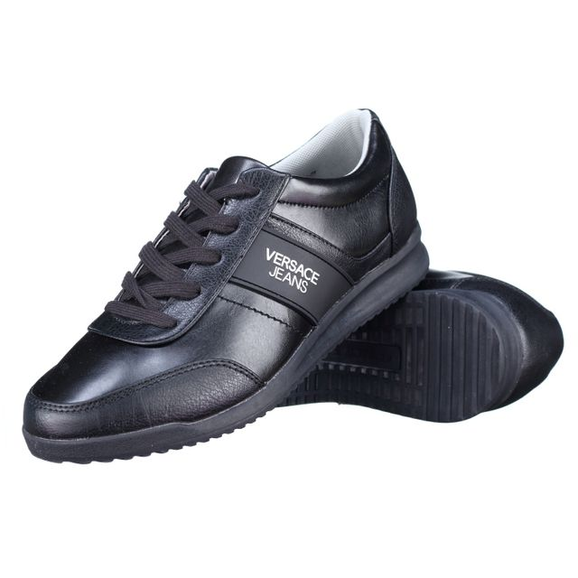 086bd1d5cd03 Versace Jeans - Basket Eoypbsb3 899 Noir - pas cher Achat   Vente ...