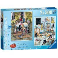 Toyland - Ravensburger Crazy Cats Tea Time Treats Puzzles 2 X 500 Pieces