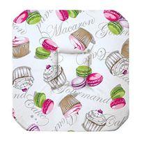 Douceur D'INTERIEUR - Coussin galette de chaise assise 36 x 36 cm blanc macaron