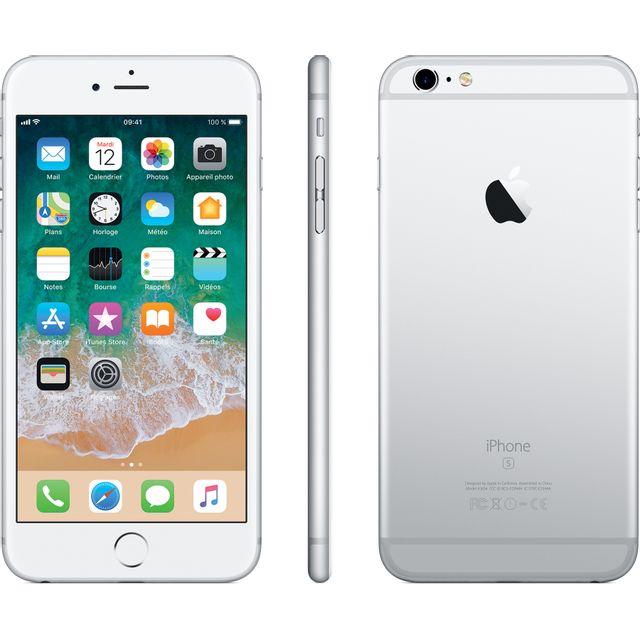 """APPLE iPhone 6S Plus - 32 Go - MN2W2ZD/A - Argent Ecran Retina HD 5,5"""" en 1080 x 1920 pixels (401 ppp) - Nouvelle fonction 3D Touch - iOS 11 - Processeur Apple A9 - Nano-SIM - Mémoire Intégrée (ROM) 32 Go - Batterie 2915 mAh - Appareil Photo 12 mégap"""