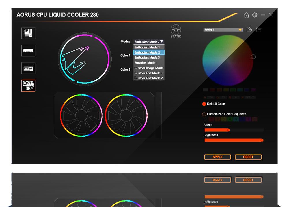 AORUS Liquid Cooler 280 - RGB - 280 mm
