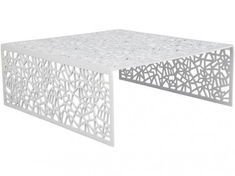 INSIDEART Table basse SPLENDEUR en aluminium - Coloris blanc