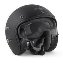 Harisson - casque jet moto scooter fibre noir mat - Ca102 Xl