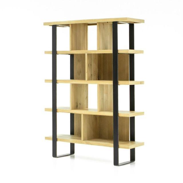 Meubletmoi - Bibliothèque chêne - Fabrik - pas cher Achat   Vente ... 83a13d10fab2