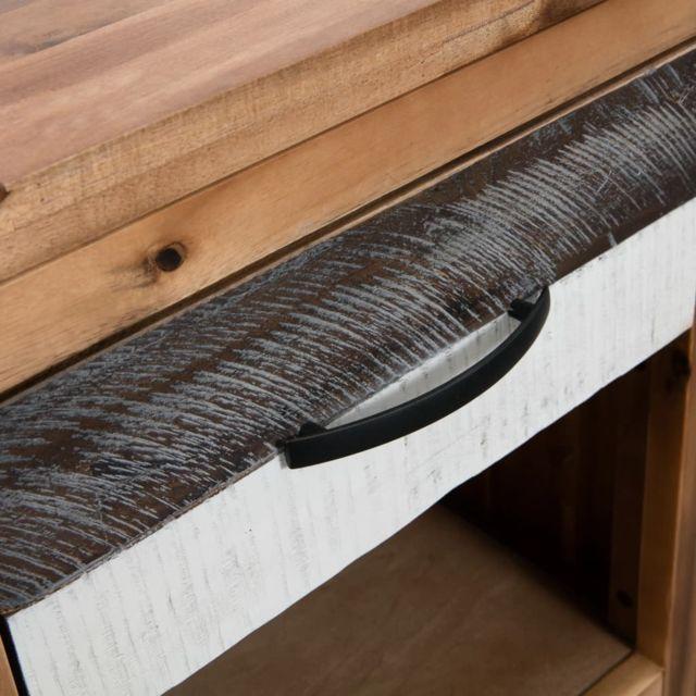 Icaverne - Chevets collection Table de chevet 40 x 30 x 48 cm Bois d'acacia massif