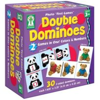 Carson Dellosa - Double Dominoes: 2 Games In One! Colors & Numbers