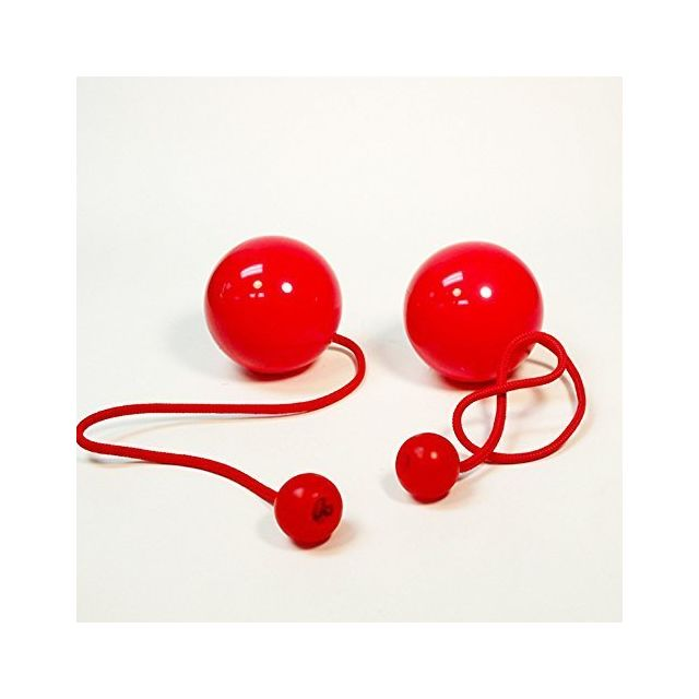 Play Pair of Contact Poi Pro with 80mm Stage Ball- Red