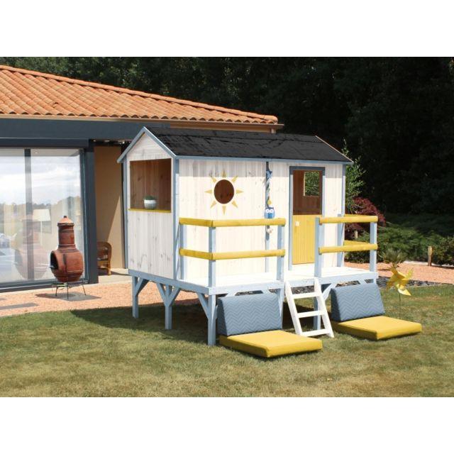 soulet maisonnette bois elina pas cher achat vente. Black Bedroom Furniture Sets. Home Design Ideas