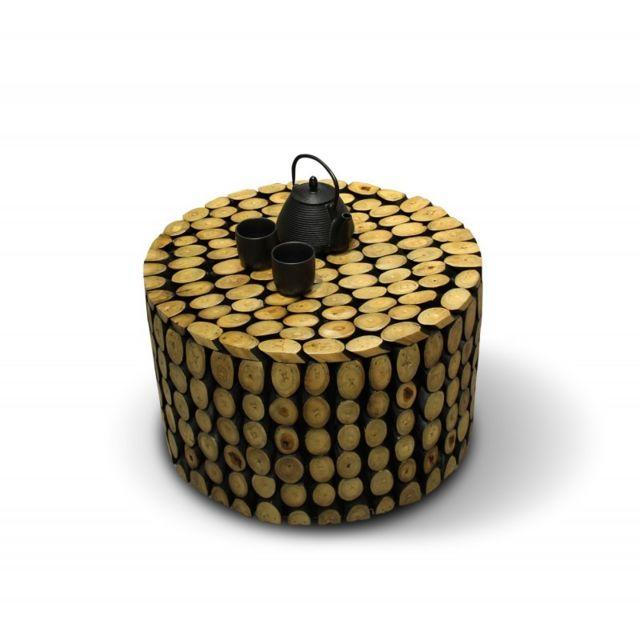 Meubletmoi Table basse ronde - Simba