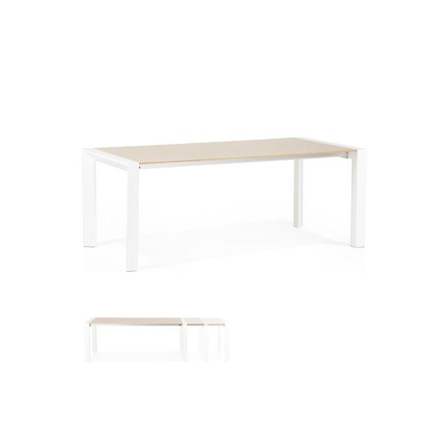 Table à diner design 95x190x74cm Fjorda
