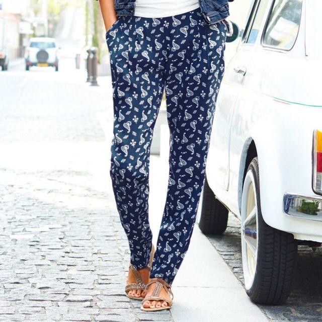 Blancheporte - Pantalon fluide imprimé cachemire - pas cher Achat   Vente Pantalon  femme - RueDuCommerce 17c0a664d33
