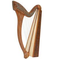 Celtique Instruments - Harpe Celtique 27 Cordes avec demi-ton troubadour