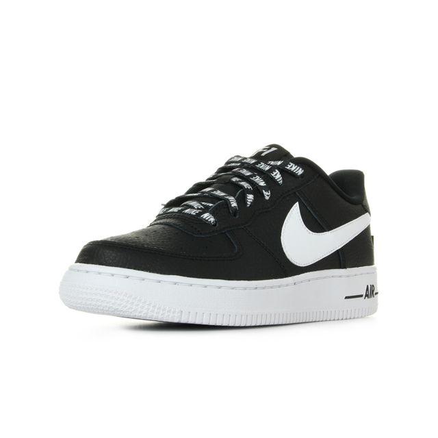 promo code b66ca bffef Nike - Air Force 1 Lv8 GS, Black - pas cher Achat   Vente Baskets enfant -  RueDuCommerce