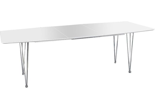 Comforium Table à manger blanche extensible design 270 cm