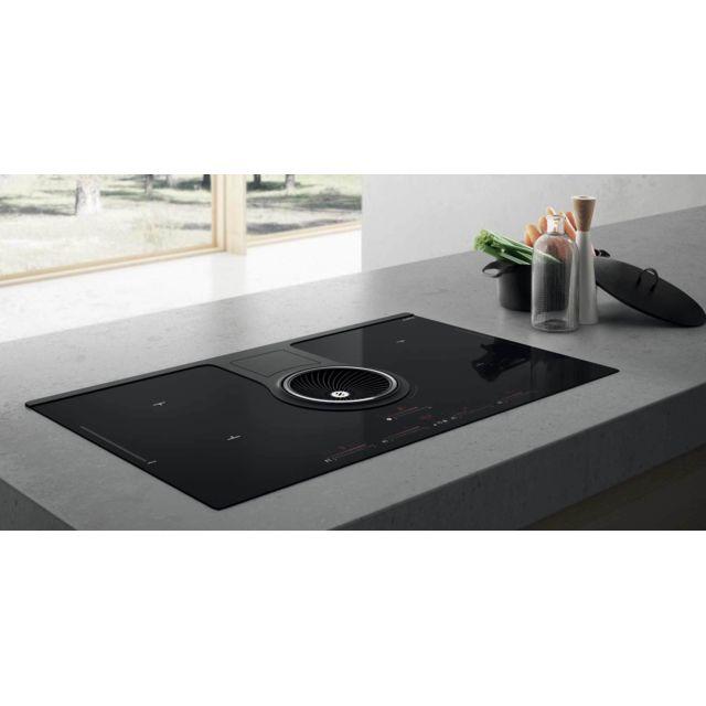 ELICA table de cuisson aspirante induction 83cm 4 feux 7400w noir - prf0120975