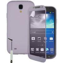 Vcomp - Housse Etui Coque silicone gel Portefeuille Livre rabat pour Samsung Galaxy S4 Active I9295/ I537 Lte + mini stylet - Transparent