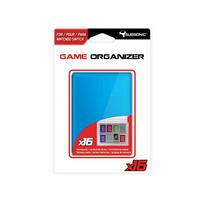 Boitier de rangement transparent bleu pour cartouches et cartes SD Nintendo Switch - 16 emplacements