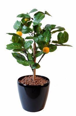 artificielflower arbre artificiel fruitier oranger mini en pot int rieur cm vert. Black Bedroom Furniture Sets. Home Design Ideas