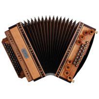 Loib - Harmonika Ivd cerise/noisette G-c-f-b avec basse H et basse en alternance