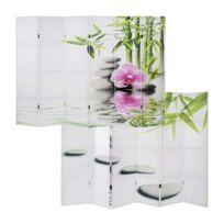 Paravent 6 panneaux pans séparateur de pièce 180x240cm motif orchidee Par04024