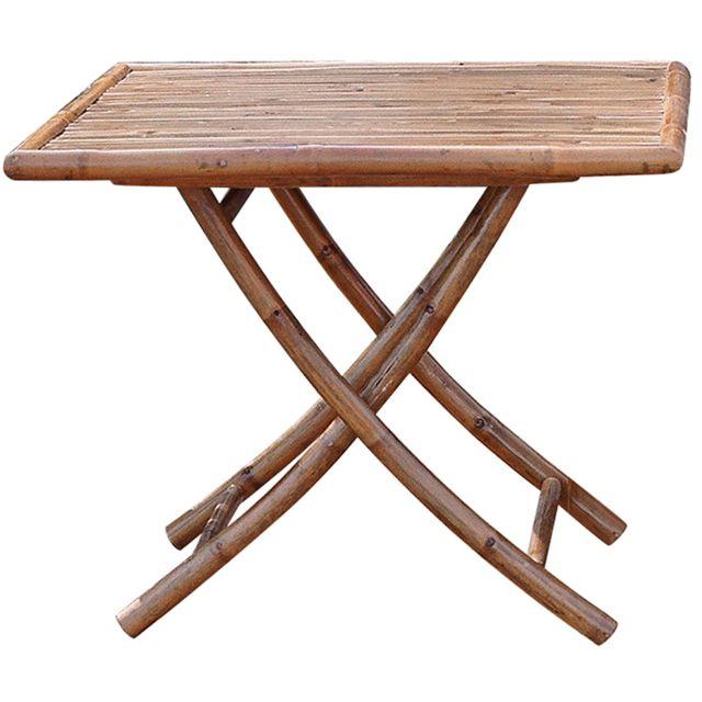 80 x 80 cm PEGANE Table de Jardin Pliante Forme carrée en ...