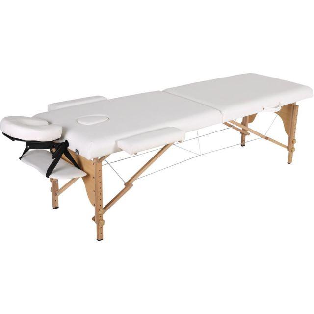 habitat et jardin table de massage pliante bora bora 2 zones 212 x 80 x 60 83 cm blanc. Black Bedroom Furniture Sets. Home Design Ideas
