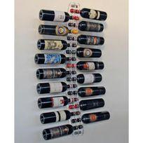 Sobrio - Support mural en plexiglas transparent pour 18 bouteilles - Plexiglas transparent Aci-sbr105
