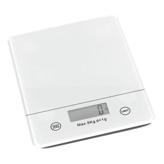 TREND UP - TREND'UP - BALANCE ELECTRONIQUE BLANC 18.2 X 14.2 CM . 5 KG /1GR . ECRAN LCD - PI LES FOURNIES