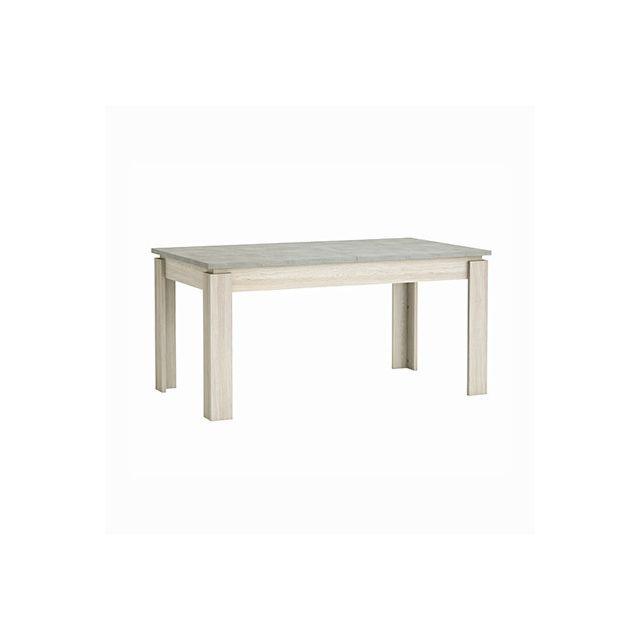 Table 160x200x90cm en décor chêne et beton clair