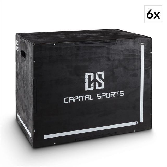 Capital sports shineater bk set plyo box jump box 3 hauteurs 20 24 30 noir