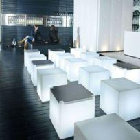 Cubo Cube Lumineux D Extérieur H43cm Blanc