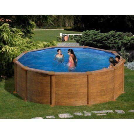 Gre pools kit piscine hors sol mauritius ronde en acier for Liner piscine hors sol ronde 5 50