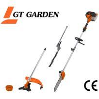 GT GARDEN - Multifonction thermique 4 en 1 : tronçonneuse - débroussailleuse - taille-haies