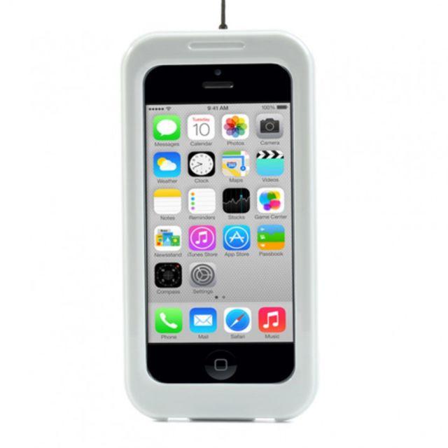 coque etanche pour iphone 5 5s se joints silicone blanche