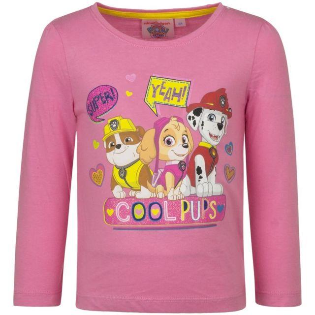 Marque Generique - Pull La Pat Patrouille T-shirt manche longue 5 ans rose 3597d0e0856