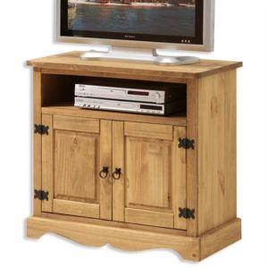 Idimex meuble tv vintage pin massif style mexicain - Meuble tv mexicain ...
