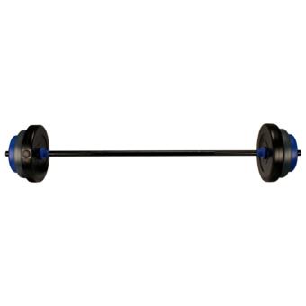Rocambolesk - Superbe Kit haltère 20 kg noir/gris/bleu cobalt Avento 41HB neuf