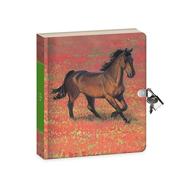 Peaceable Kingdom Wild Horse 625 Lock and Key Lined Page Diary for Kids