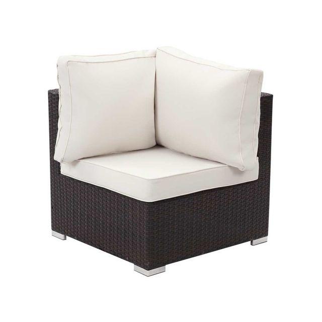Habitat et Jardin - Salon de jardin Alu en résine tressée - canapé 3 places + 1 fauteuil + une table basse + un pouf Nc