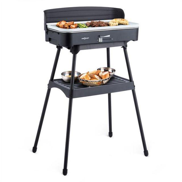 ONECONCEPT - Porterhouse Barbecue électrique Grill de table 2200W céramique