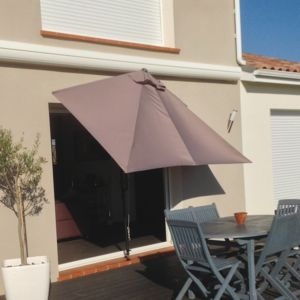 Couleurs du monde parasol rectangulaire pour terrasse et - Grand parasol de terrasse ...