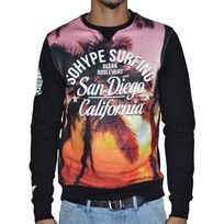Sohype - So Hype - Sweat Shirt - Homme - Surfing - Noir