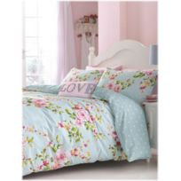 Catherine Lansfield - Housse couette +2taies Canterbury blue