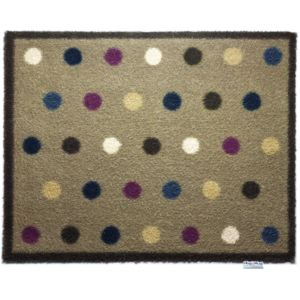 hug rug tapis en fibres naturelles pois 65x85 cm multicolore 65cm x 85cm pas cher achat. Black Bedroom Furniture Sets. Home Design Ideas