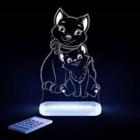 Aloka - Chat-lampe-veilleuse Led H17cm Transparent
