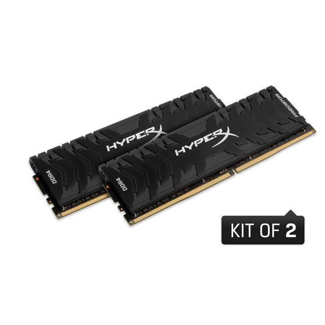 HYPERX Mémoire PC Predator 16 Go 2666MHz DDR4 CL13 DIMM Kit de 2, XMP Mémoire PC HyperX Predator 16 Go 2666MHz DDR4 CL13 DIMM (Kit de 2) XMP
