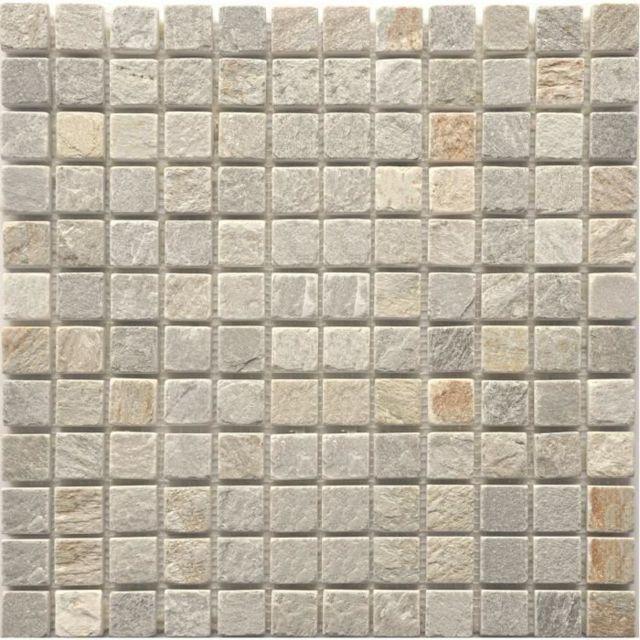 Carrelage Plaquette De Parement Brique De Verre Decor Plinthe Carrelage Mosaique En Pierre Naturelle New Dehli 30 X 30 Cm Beige Creme