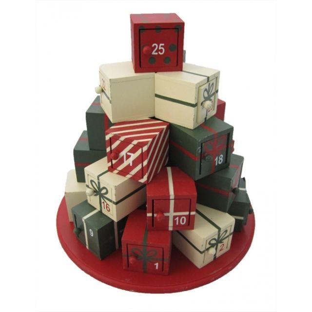 calendrier de l 39 avent en bois d coration de no l cadeaux pas cher achat vente d corations. Black Bedroom Furniture Sets. Home Design Ideas