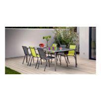 chaise vert anis jardin achat chaise vert anis jardin pas cher rue du commerce. Black Bedroom Furniture Sets. Home Design Ideas